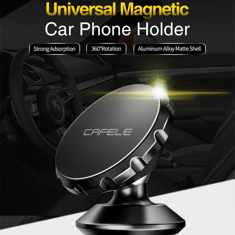 Cafele magnético universal titular do telefone carro 360 rotação gps do telefone móvel suporte para o iphone x huawei p20 pro samsung s9