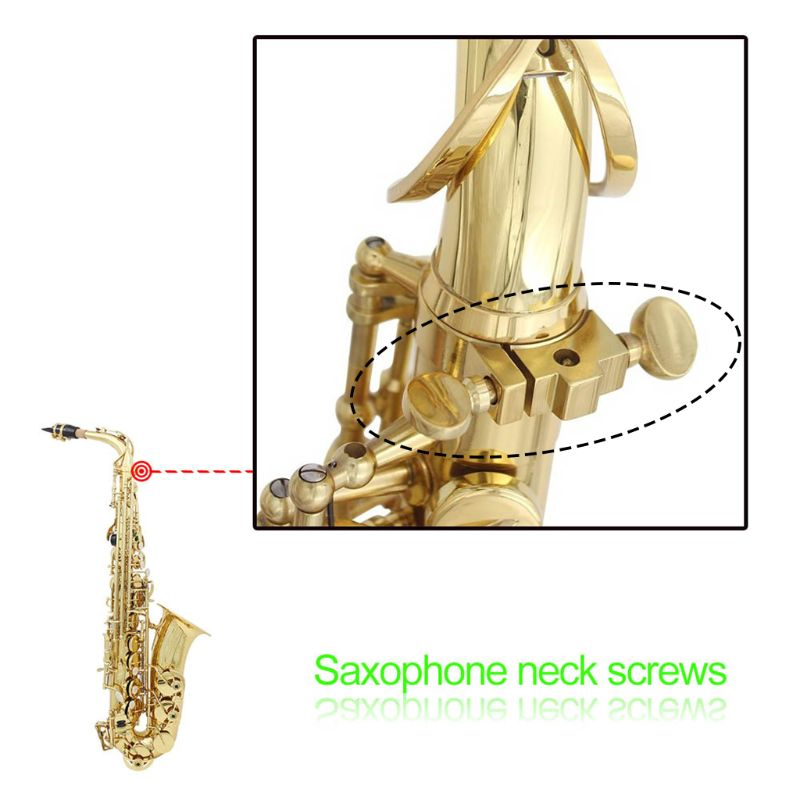 Gold Saxophone Neck Screw Sax Accessories Copper Woodwind Instrument Repair Tool in Brass Parts Accessories from Sports Entertainment