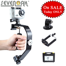 Sevenoak sk-w08 motion camera gimbal handheld steadycam estabilizador para iphone 6 6 plus 5 4s gopro hero 4 3 3 +