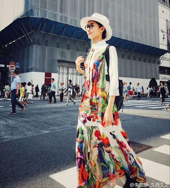 Qualidade Das Mulheres da forma 2016 Outono Primavera Comprimento Total Tamanho Grande 4XL Impresso Runway Bohemian Vestidos Maxi Vestido Longo Do Vintage