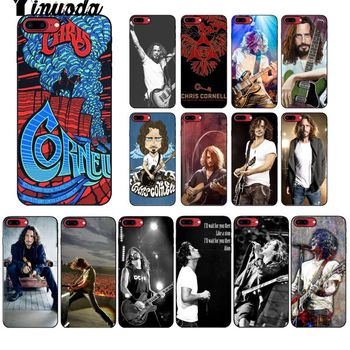Yinuoda Chris Cornell DIY Painted Beautiful Phone Accessories Case for Apple iPhone 8 7 6 6S Plus X XS MAX 5 5S SE XR Cellphones image