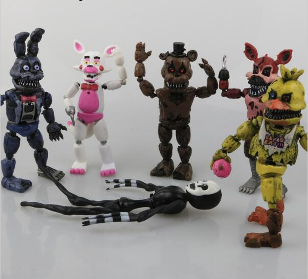 14.5-17cm 6pcs/lot PVC Five Nights At Freddy's Action Figure FNAF Bonnie Foxy Freddy Fazbear Bear Dolls Toys цена