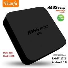 Caixa de Tv Android M8S PRO Android Caixa de TV Inteligente DDR4 RK3229 Quad núcleo ARM Wifi 4 K Full HD 2G RAM 8G ROM Set Top caixa