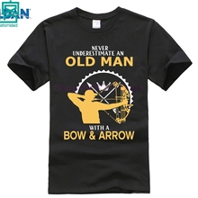 Never Understimate an Old Man with a Bow and Arrow Tee Shirt