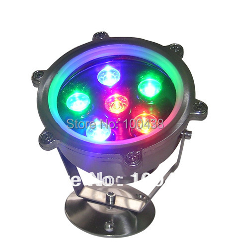 Free shipping !! IP68,good quality 6W LED RGB underwater light,RGB LED pool light,12V DC,DS-10-5-6W,constant voltage