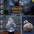 Best Creative Gifts Star Wars BB8 3D Night LED Lights Touch Control Bedroom Decoration USB Nightlight Desk Dimmable 3D Lamp