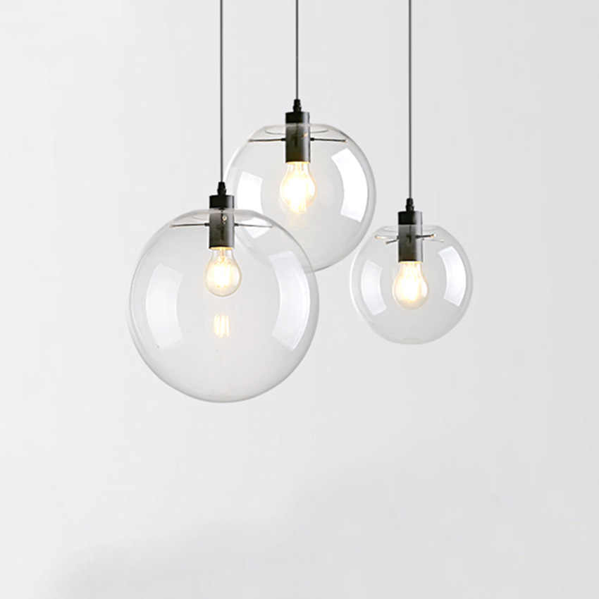 Modern Brief Gl Ball Pendant Lamps