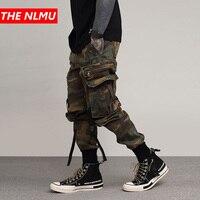 2019 Mens Hip Hop Pant Side Pockets Vintage Camouflage Cargo Pant Streetwear Casual Harem Pants Military Tatical Trousers WG05