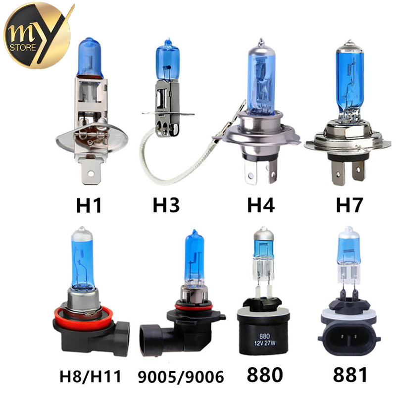 Car Light H1 H3 H4 H7 H8 H9 H11 9005 HB3 9006 HB4 880 881 Auto halogen lamp bulb Fog Lights 27W/35W/55W/70W/100W 12V 24V White