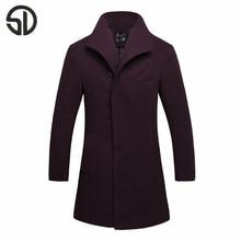 Новый Шерстяные Пальто Человек 2017 Модный Бренд Человек Твердых Шерсти куртки Человек Краткое Элегантный Шерсть Верхняя Одежда Пальто Мужской Теплый куртки