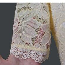 فستان سهرة أنيق من الدانتيل الراقي أكمام قصيرة
