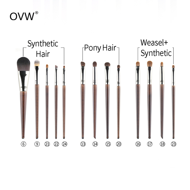 OVW Goat Hair Small Precision Pointed Shader Brush Natural Pencil Crease Goat Hair Detail Make Up Brushes Tools kist' dlya teney 3