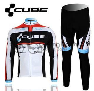 ФОТО CUBE 2012 team Winter long sleeve cycling jerseys pants bike bicycle thermal fleece wear set ropa ciclismo maillot