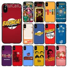 Ruicaica The Big Bang Theory Sheldon Black Cell Phone Case for Apple iPhone 8 7 6 6S Plus X XS MAX 5 5S SE XR Mobile Cases(China)