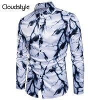 Cloudstyle 2017 Nieuwe Mode Mannen Lange Mouwen Lente Herfst Dragen Lightning Veren Digitale Printing Jong Cothing