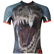 179e0987b Angry Beast Men Short sleeve Brown Cycling Jersey Tyrannosaurus Rex  Ciclismo Ropa Blue Breathable Bicycle Clothing