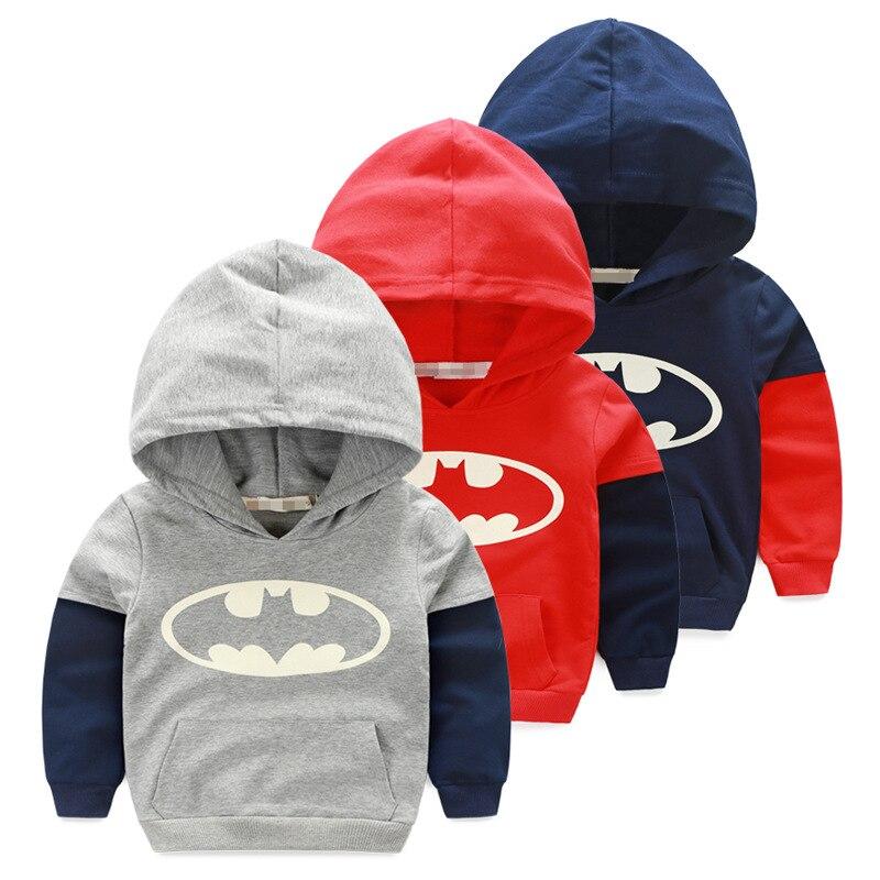 2016 autumn children Hoodies sweatshirts cartoon Superman tops Boys girl cotton T-shirt Baby clothing kids pullovers