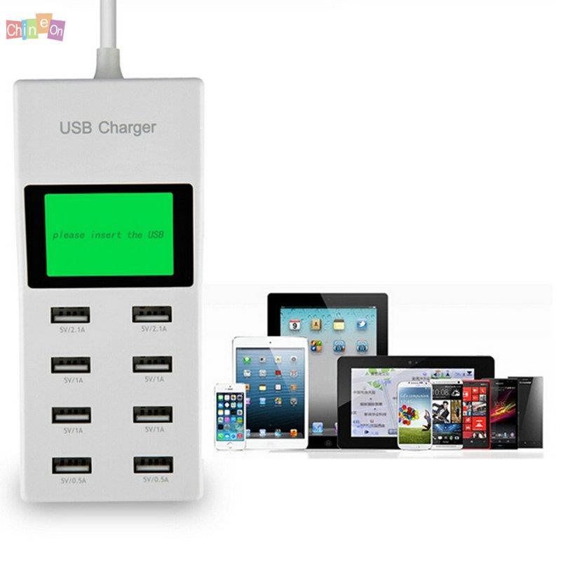 Bán Hot 2015 ANH Cắm Đa Cổng 8 USB Port USB Tường Nguồn Adapter Sạc Cho Android Khác Điện Thoại Máy Tính Bảng