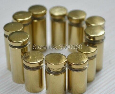 Купить с кэшбэком 12mm Dimater Golden Color steel glass standoff screw from China 20pcs/bag