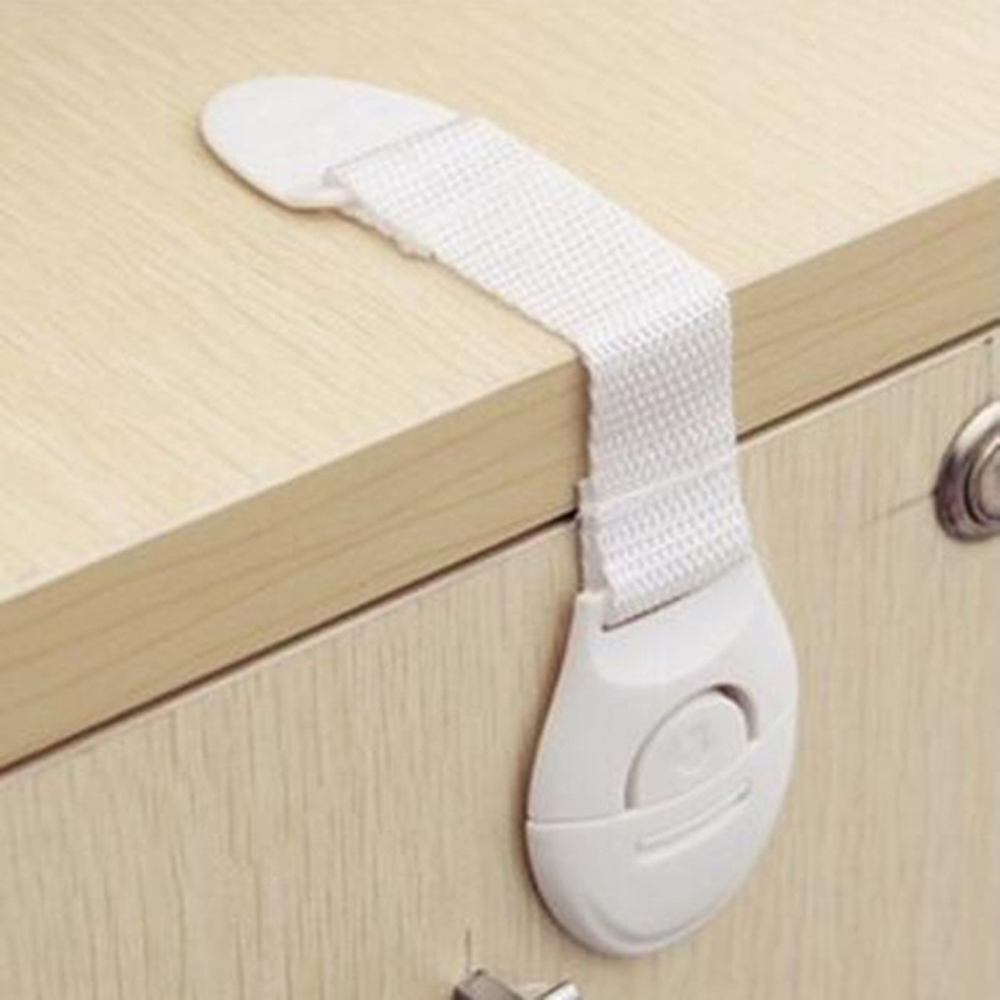 10Pcs Magnetic Child Lock Safety Baby Protectiong Cupboard Cabinet Door Lock Drawers Refrigerator Toilet Plastic Straps Locks
