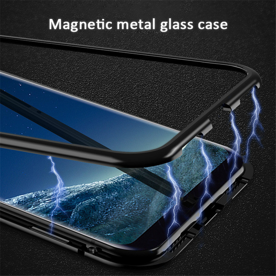 Magnetic Glass Case for Samsung Galaxy Note 8 9 S9 S8 Plus 04