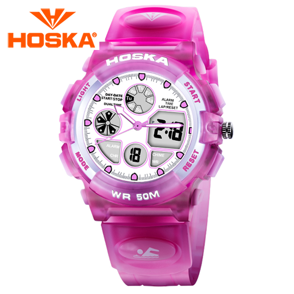 Brand design LED student womens watches sport pointer digital watch relogio Quartz watch women digital-watch waterproof