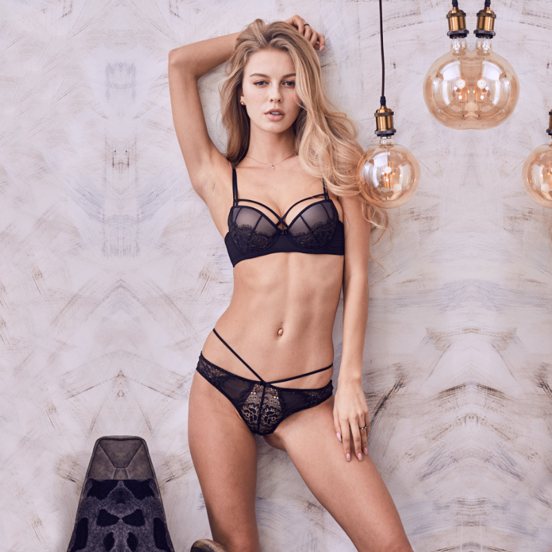 Godier Brand Underwire Lace Summer Sexy Push Up   Bra     Sets   Women's Fashion Lace Underwear   Set   Young Girl   Bra     Brief     Sets   bralette