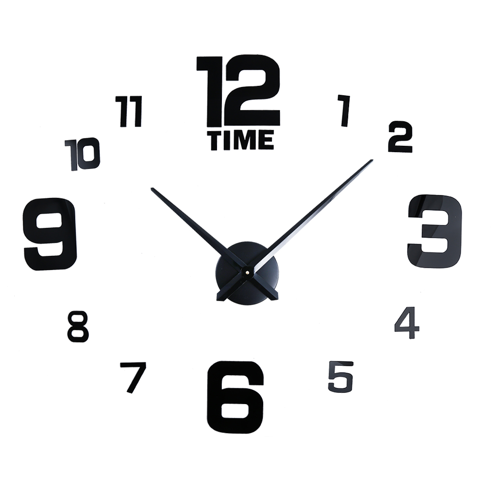 M Sparkling 3d Wall Clock Mirror Effect Stickers Frameless