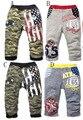 2015 del Otoño Niños del Algodón pantalones de los pp cálidos niños bebés Niños pantalones casual Niños ropa de Camuflaje Sólido 1 unids Envío gratis