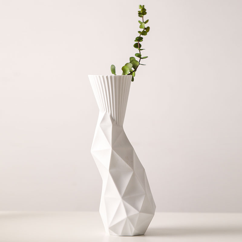 The Geometric Vases Ceramic White Tabletop Vase Home Decoration Vase