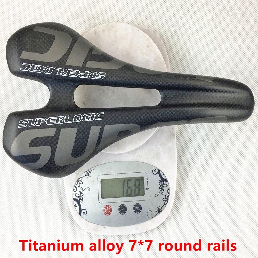 Superlogic vtt plein carbone selle Titane 7*7mm vélo de route selle VTT avant sella sillin siège 3 k mat