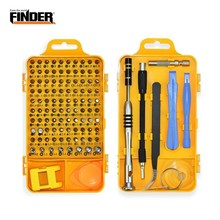 цена на FINDER Multi-function 108pcs Precision Screwdriver Set Repair Computer PC Mobile Phone Digital Electronic Device Hand Tools Bit