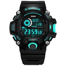 Zgo Marca Deporte de Los Hombres Relojes Masculinos G Estilo Moda 30 M Impermeable del Choque de Cuarzo Analógico Digital Reloj de Pulsera Relogio masculino