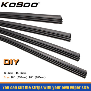 KOSOO Car Vehicle Insert Rubber Strip strips Soft Car Wiper Blade (Refill) 6mm Width 26