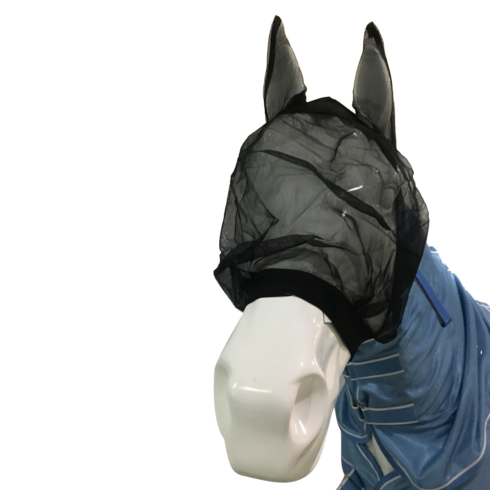 HOT Horse Quiet Ride Anti Fly Mask With Ears Accessories For Mule Donkey HV99
