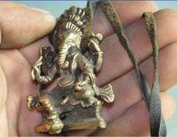 Elaborate Chinese Tibetan buddhist brass elephant exorcism amulet auspicious statue