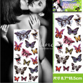 Hot Sexy Women Multi Color Butterfly New Waterproof temporary Tattoos big temporary tattoos fake back Free Shipping