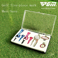 Pgm New Products Professional Golf Training Supplies Golf Hat Clips Mark Mark Mother Ball TEE Green Fork Boxed Five piece Gift