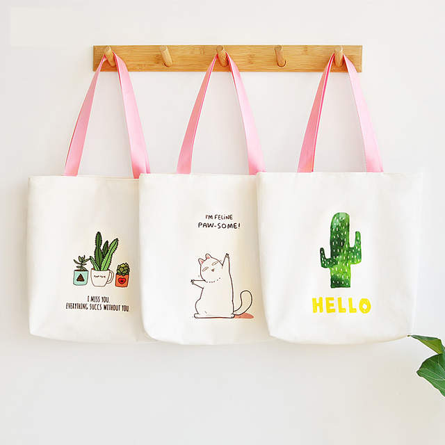 search for best professional sale top quality harajuku cute shoulder bag women sac beach bag moda feminina 2019 hobo  handbag cactus tote hand bag totebag canvas shopper bag