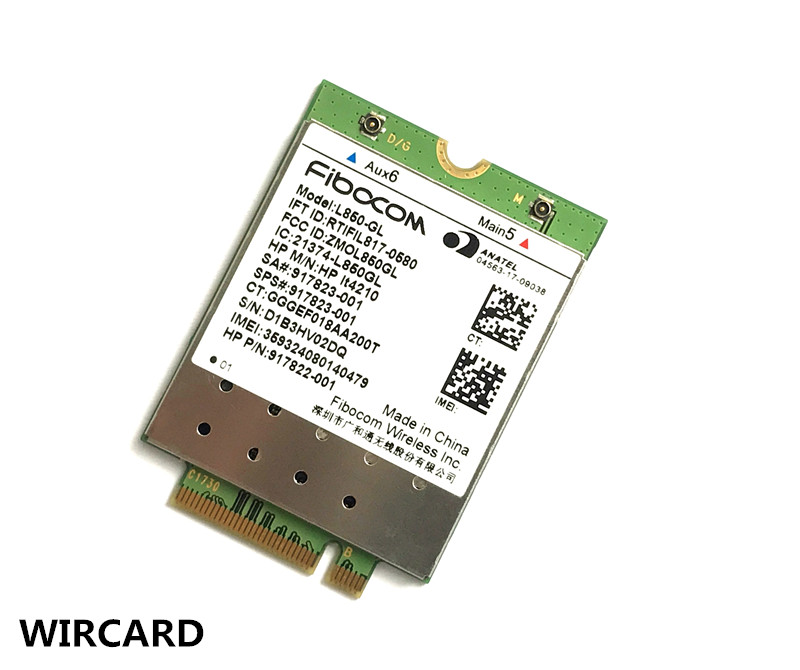 L850-GL  LT4210 FDD-LTE TDD-LTE 4G Card 4G Module SPS#917823-001 For 430 440 450 G5 Notebook
