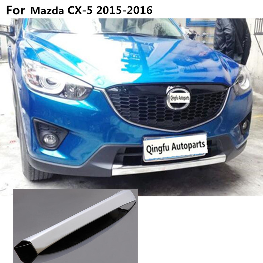 For Mazda CX-5 CX5 2015 2016 cover protection Bumper engine ABS Chrome trims Front bottom Grid Grill Grille Around edge 1pcs chrome front bottom grill grid grille cover trim for mazda 3 axela m3 2014 2016