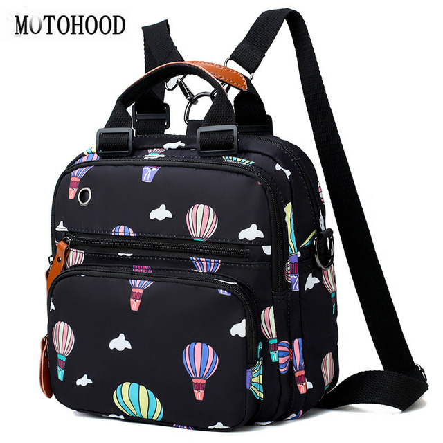 ab80b60ab2f MOTOHOOD Baby Diaper Bag Backpack Mother Maternity Bags With Insulation Bag  Fashion Hot Air Balloon Printing