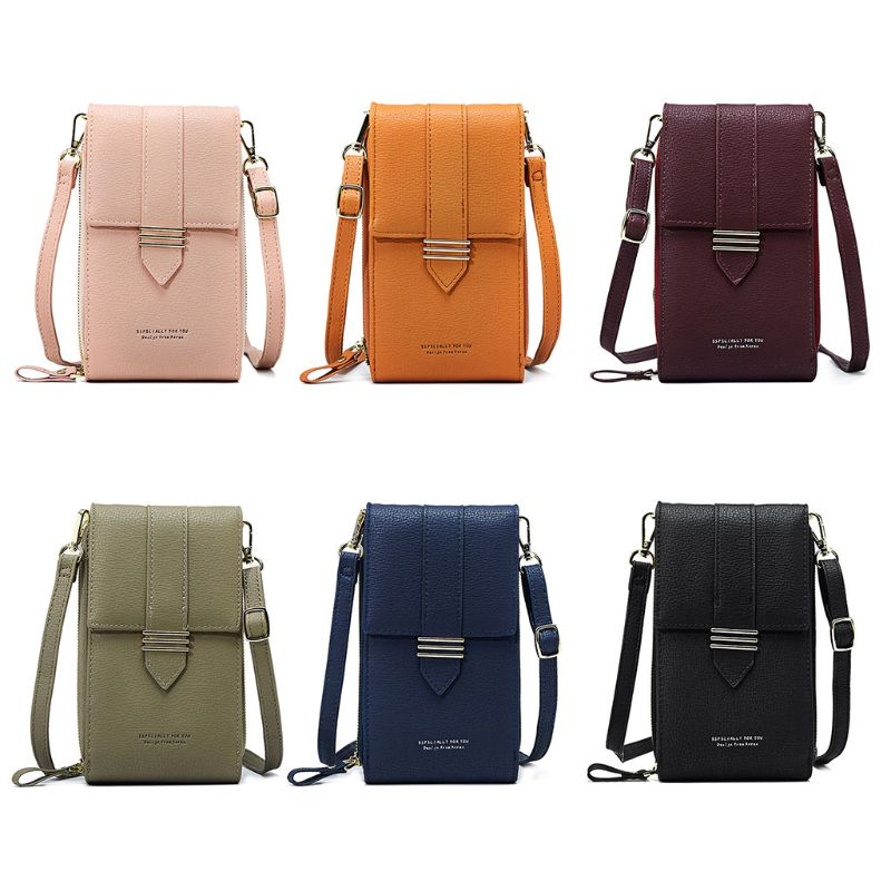 Womens Small Handy Leather Cross Body Shoulder Bag Ladies