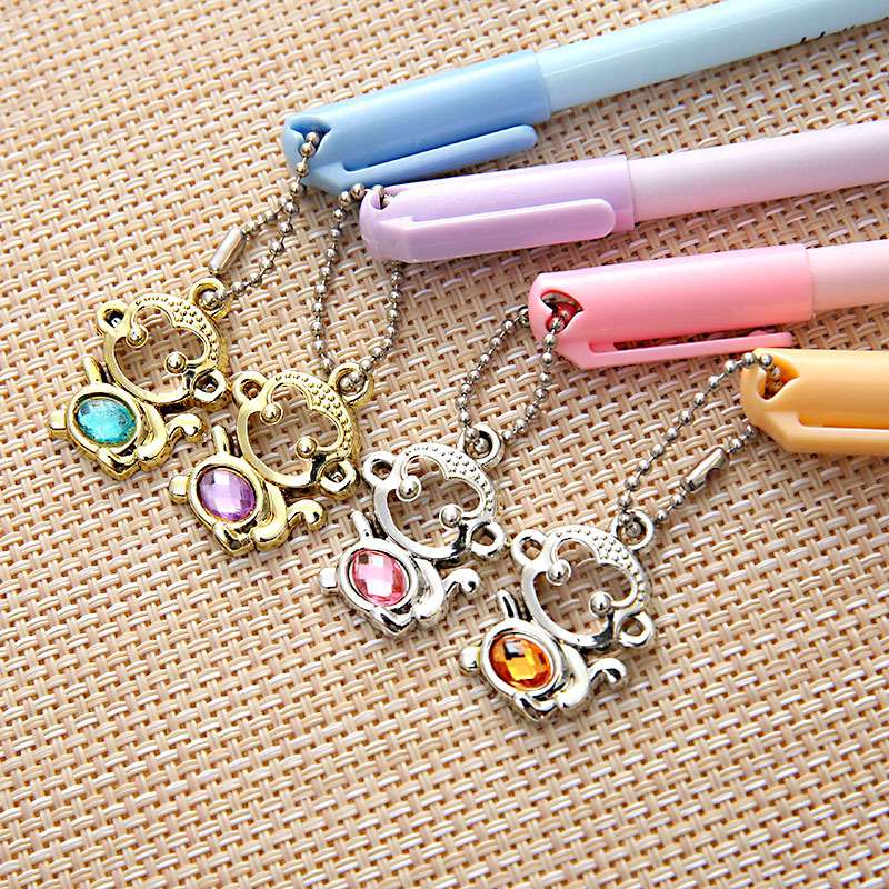 5Pcs lot Creative neutral pens Gel pens Cute Exquisite monkey pendant students stationery Office