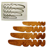 Layer Mountain Border wood die cut Mold accessories for paper felt Steel Punch leather crafts Wood laser die Metal cutting dies