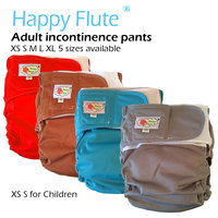 Happy Flute Adult Cloth Diaper Incontinence Pants Working With Disposable Pad 3 Sizes Available Free Shipping