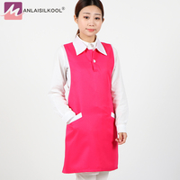 Fashion Style Aprons Solid Color Pattern Apron With Pocket Vest Style Aprons For Woman Apron Kitchen
