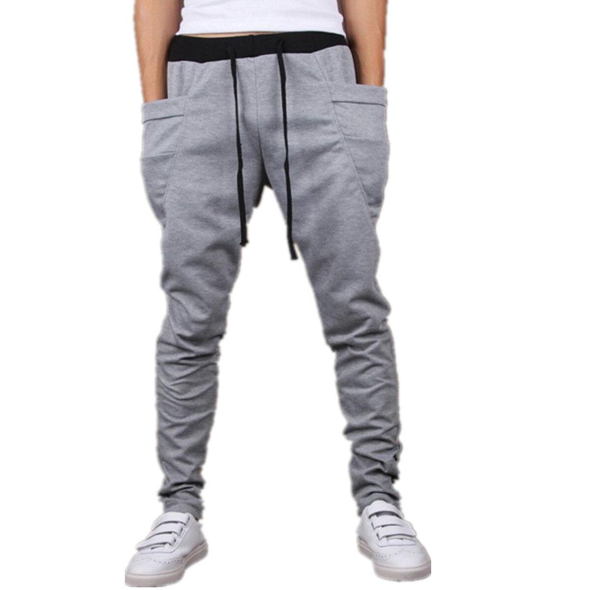 Jogger Pants Hip-Hop-Trousers Harem Big-Pocket Men's