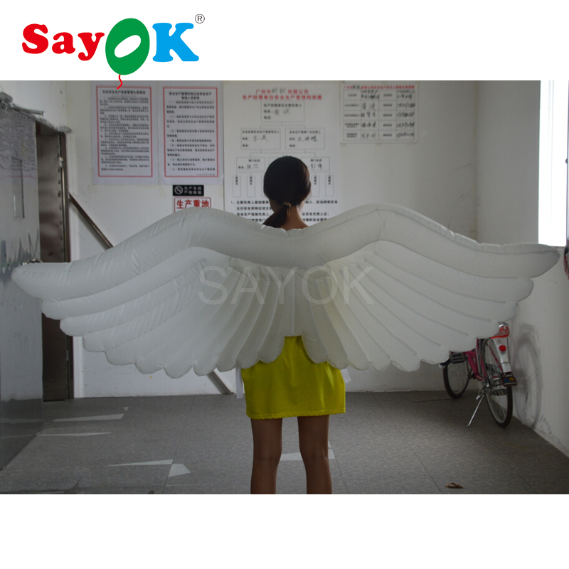 Silver Angle Wings PVC LARGE Ladies Accessory Party Christmas Decoration