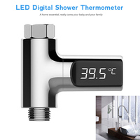LW 101 Electric Water Heater Parts LED Digital Shower Thermometer Real Time Flow Faucet Water Temperature